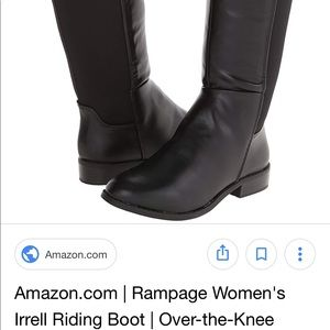 Rampage Irrell Over the Knee Riding boots